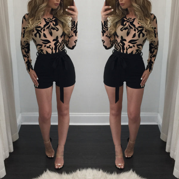 Sharon Lace Top Romper - Diva Boutique Online