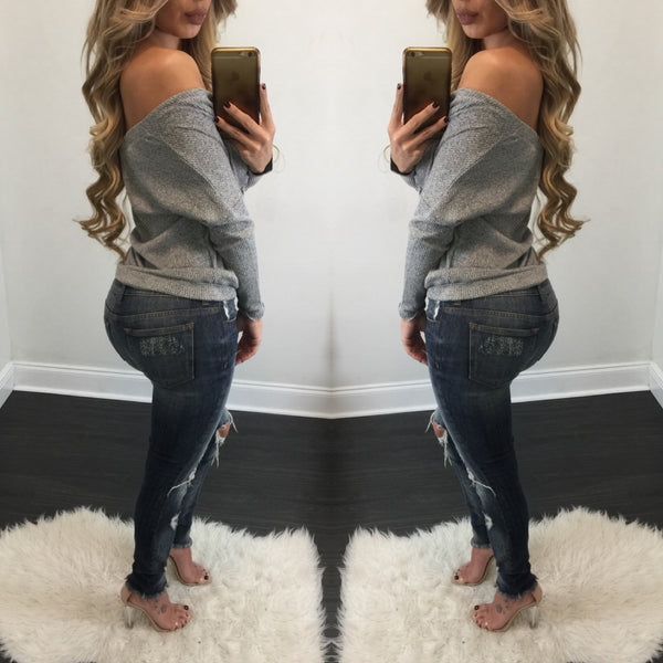 Giselle Distressed Jeans - Diva Boutique Online - 2