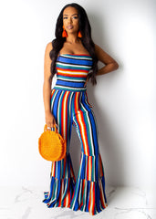 Groovy Striped Jumpsuit
