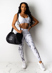 Work For It Marble Leggings