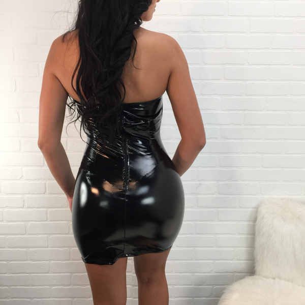 Heather Strapless Latex Mini