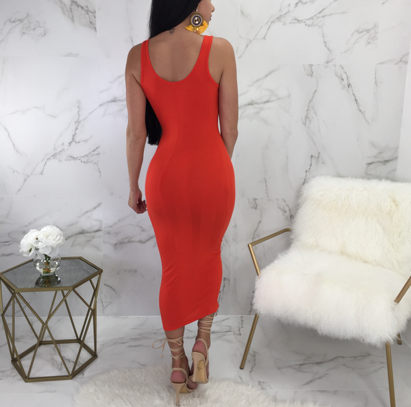 Adrianna Ribbed Tube Maxi
