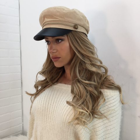 Sofia Gold Button Detail Hat
