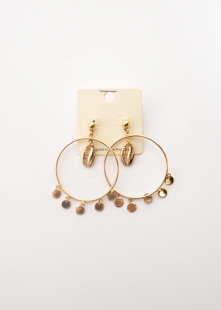 Cowry Shell Round Earrings