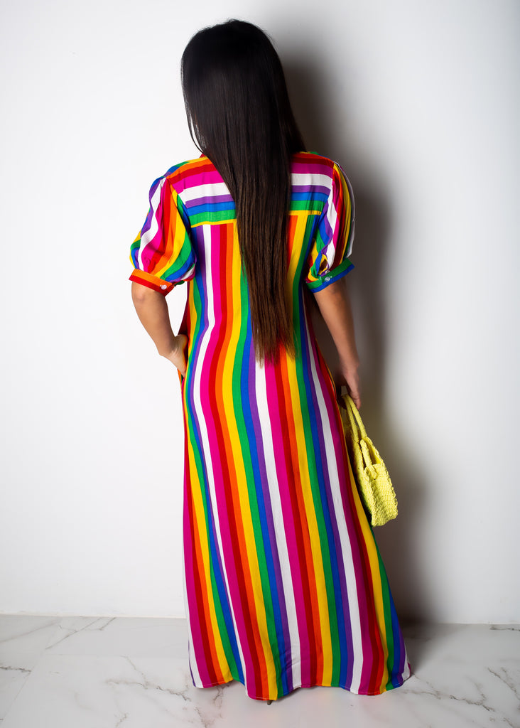 Rainbow Love T-shirt Dress