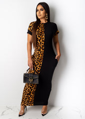 My Other Half Cheetah Print Maxi Dress
