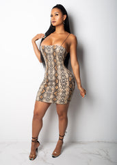 Lustful Snake Mini Dress