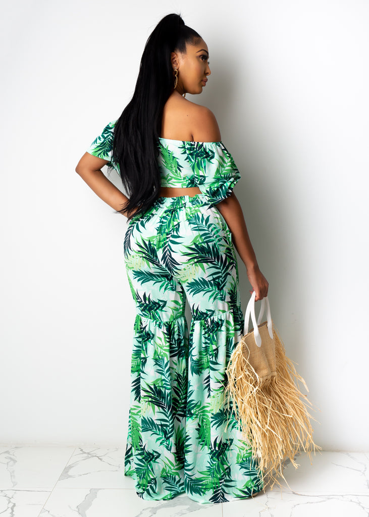 Palm Trees Pant Set