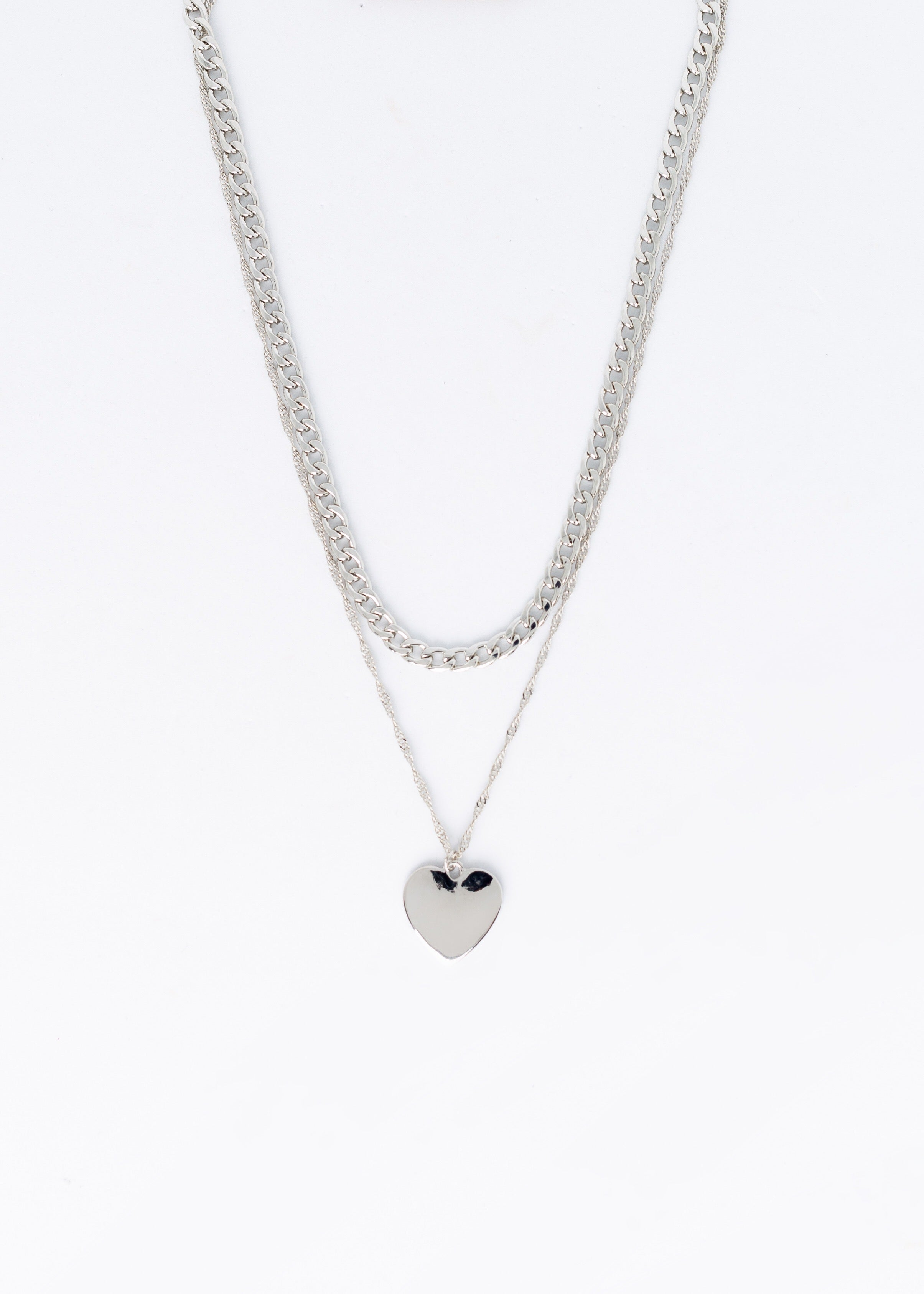 Don't Forget Me Heart Necklace
