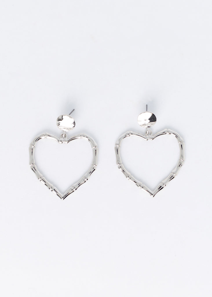 Mutual Feelings Heart Shaped Earrings