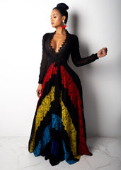 Colorful Widow Maxi Dress