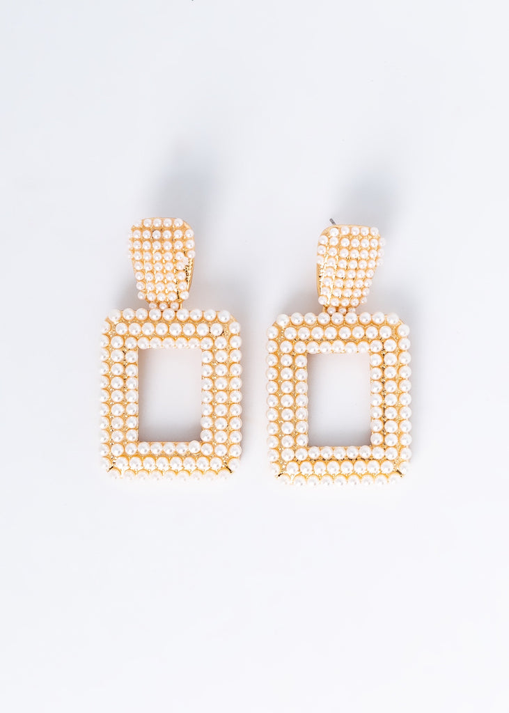 Hidden Pearl Earrings
