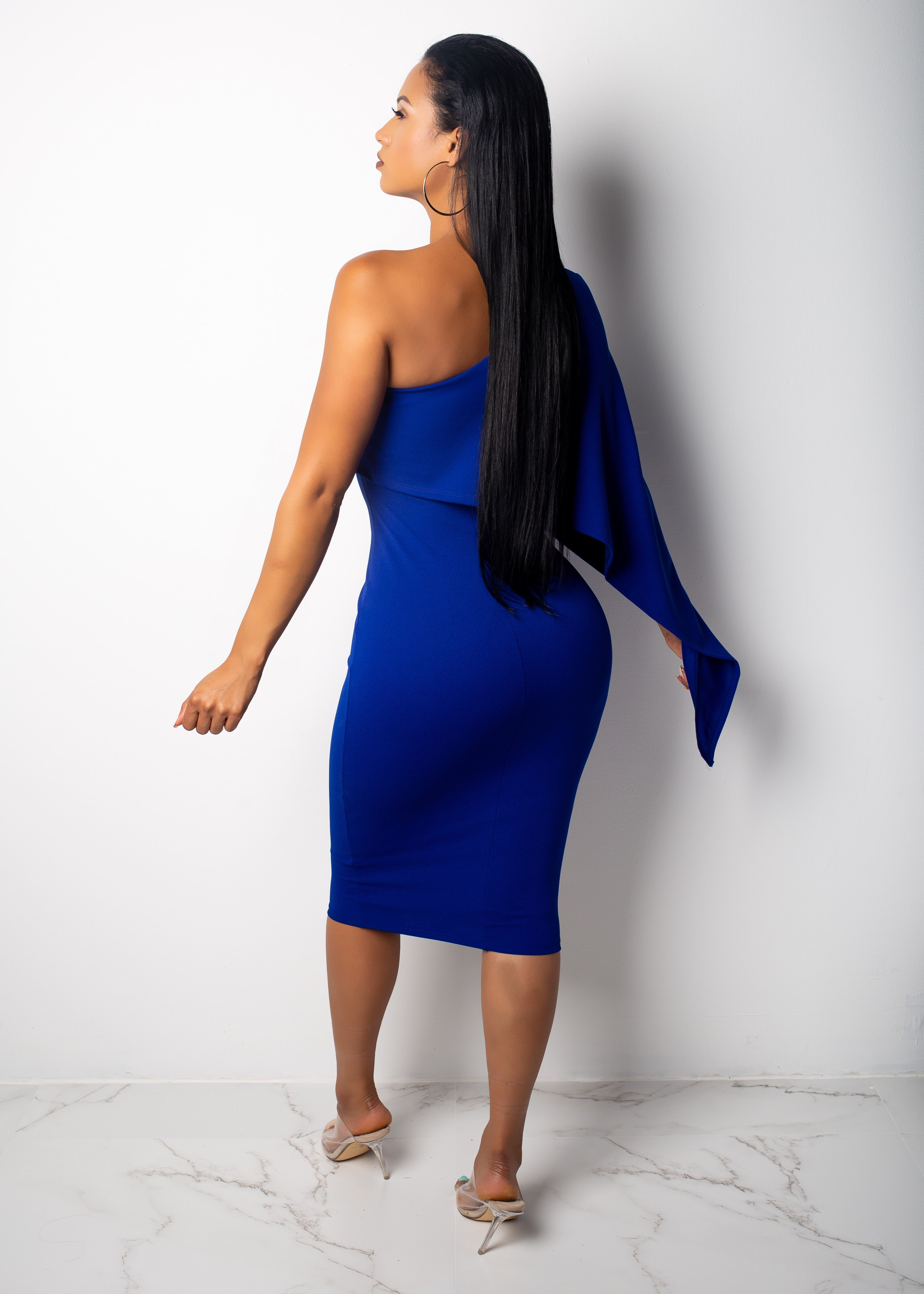 Lilith Off The Shoulder Midi Dress
