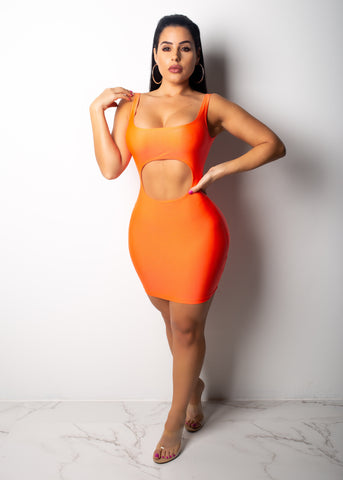Kim Stole The Show Neon Orange Mini Dress