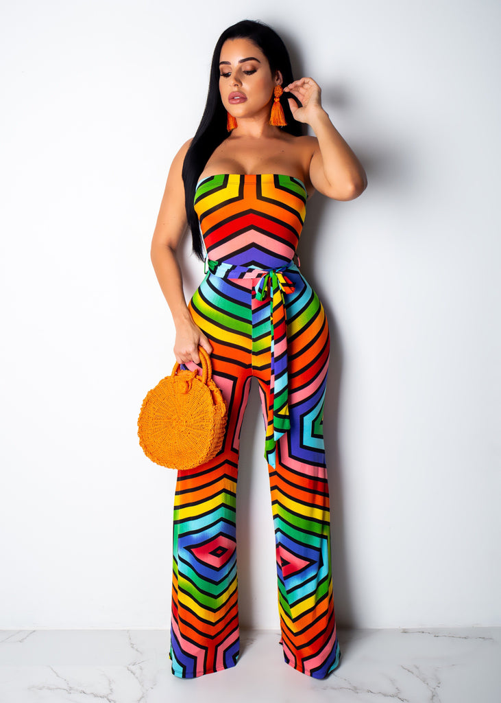 Stripes All Around Me Jumpsuit
