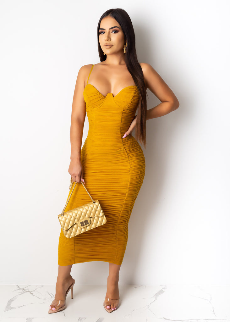 Don't Want To Keep You Waiting Midi Dress
