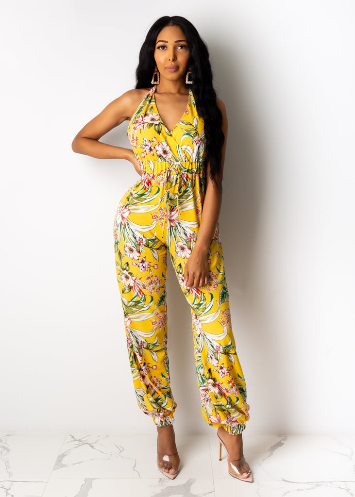 Change For The Better Floral Jumpsuit