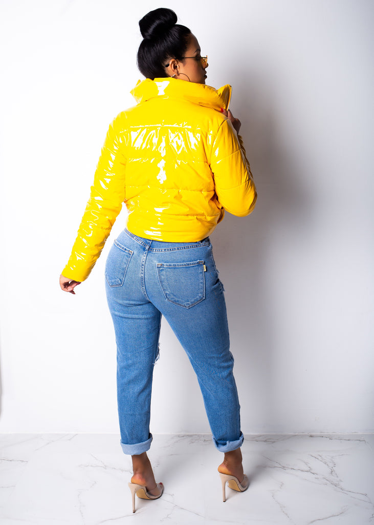 Seductive Yellow Vinyl Jacket