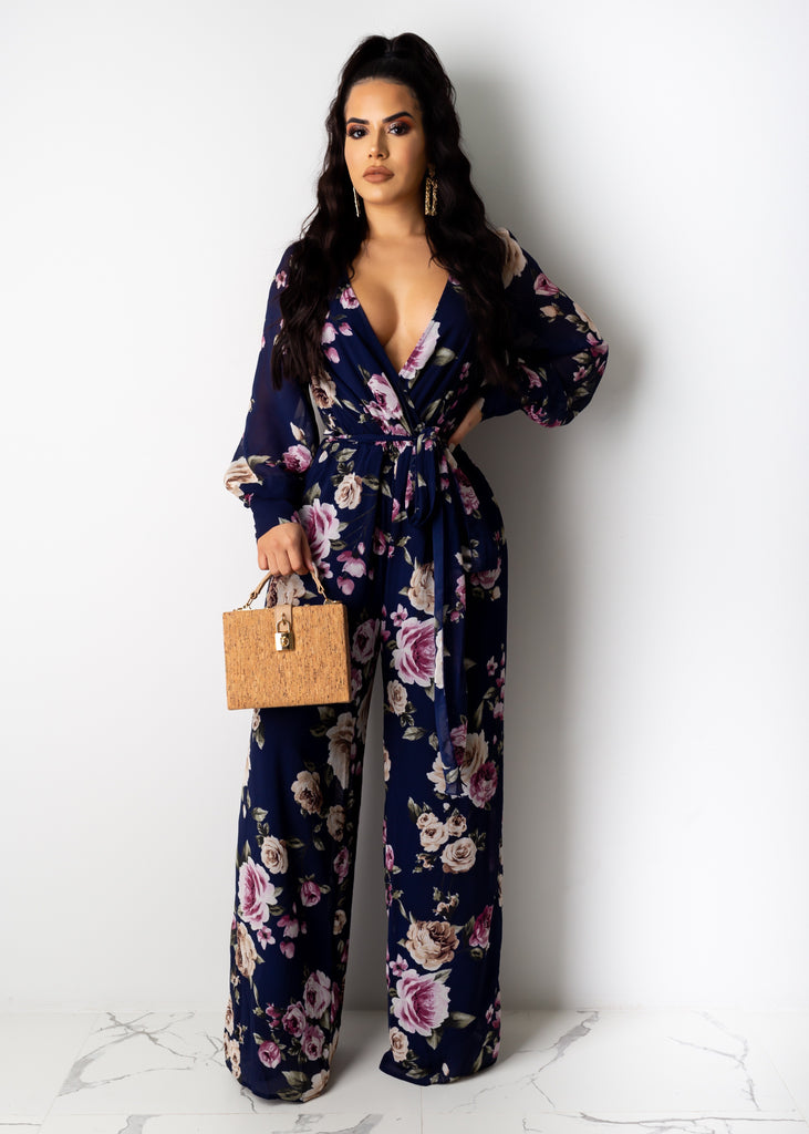 Love When You Call Flower Jumpsuit