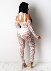 Only On Camera Mesh Jumpsuit