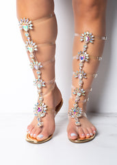 St. Tropez High Crystal Sandal