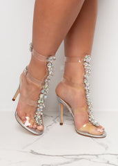 Perfectionist Silver Gem High Heels