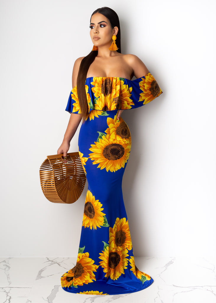 Sunflower Darkness Maxi Dress