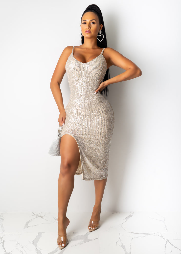 Sparkle Wherever You Go Midi Dress