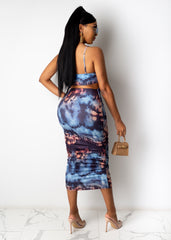 Check The Records Midi Dress