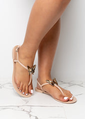 By The Sand Jelly Nude Sandals