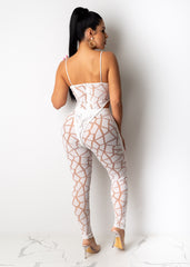 Full Of Surprises Mesh Pant Set