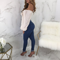 Beverly Off The Shoulder Tie Up Top