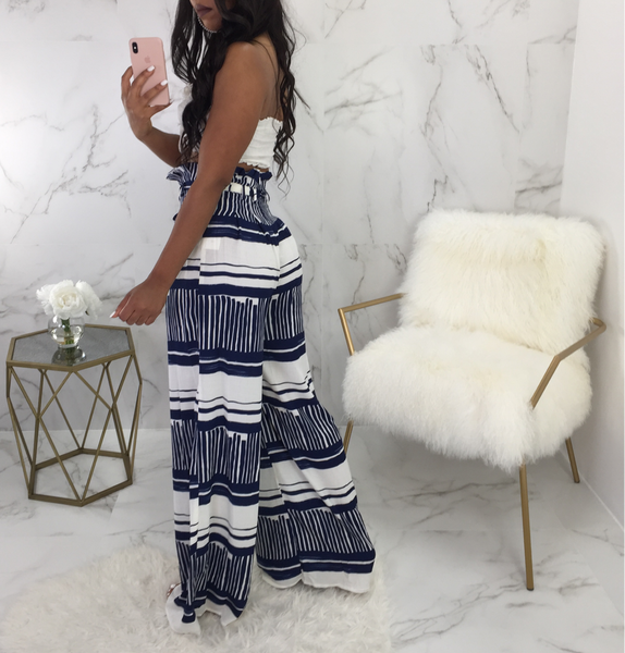 Rita Striped Wide Leg Pants