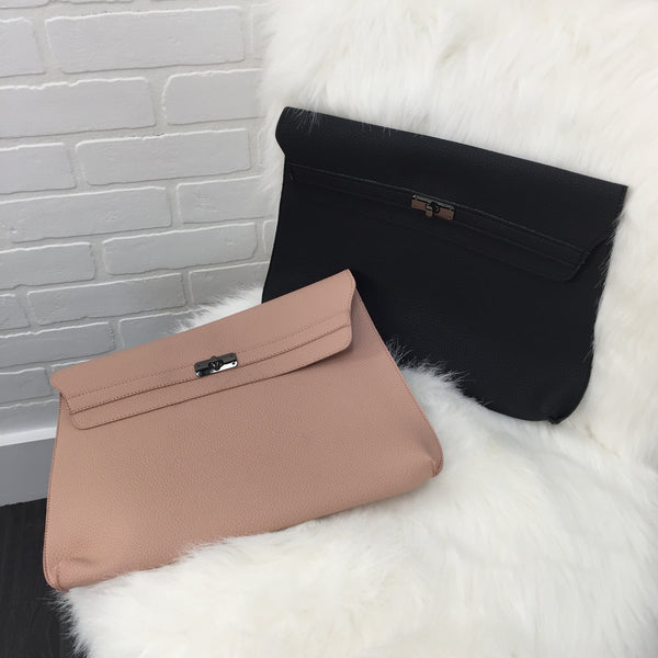 Leather Clutch - Diva Boutique Online