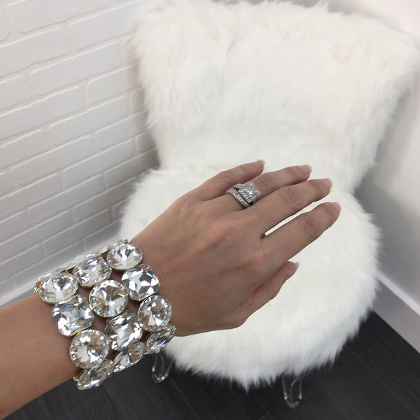 Thick Diamond Bracelet - Diva Boutique Online