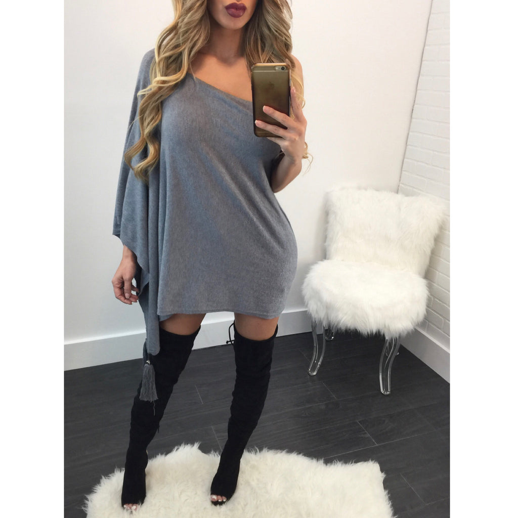 Tiana Tassel Poncho - Diva Boutique Online - 1