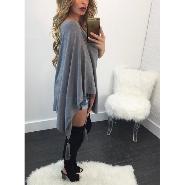 Tiana Tassel Poncho - Diva Boutique Online - 2