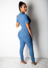 Make You Talk Short Sleeve Jumpsuit