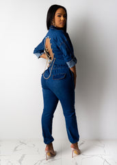 Made It Work Denim Jumpsuit