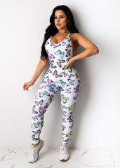 All Set Up Butterfly Jumpsuit