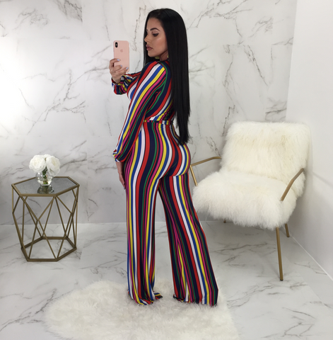 Trisha Striped Multicolor Palazzo Jumpsuit