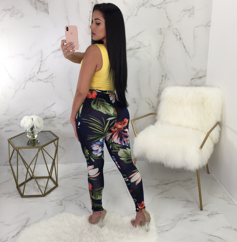 Andrea Floral Bottom Print Jumpsuit