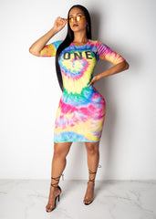 Honey Tie Dye Mini Dress