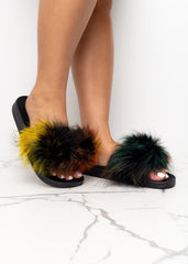 Your Way Faux Fur Slides
