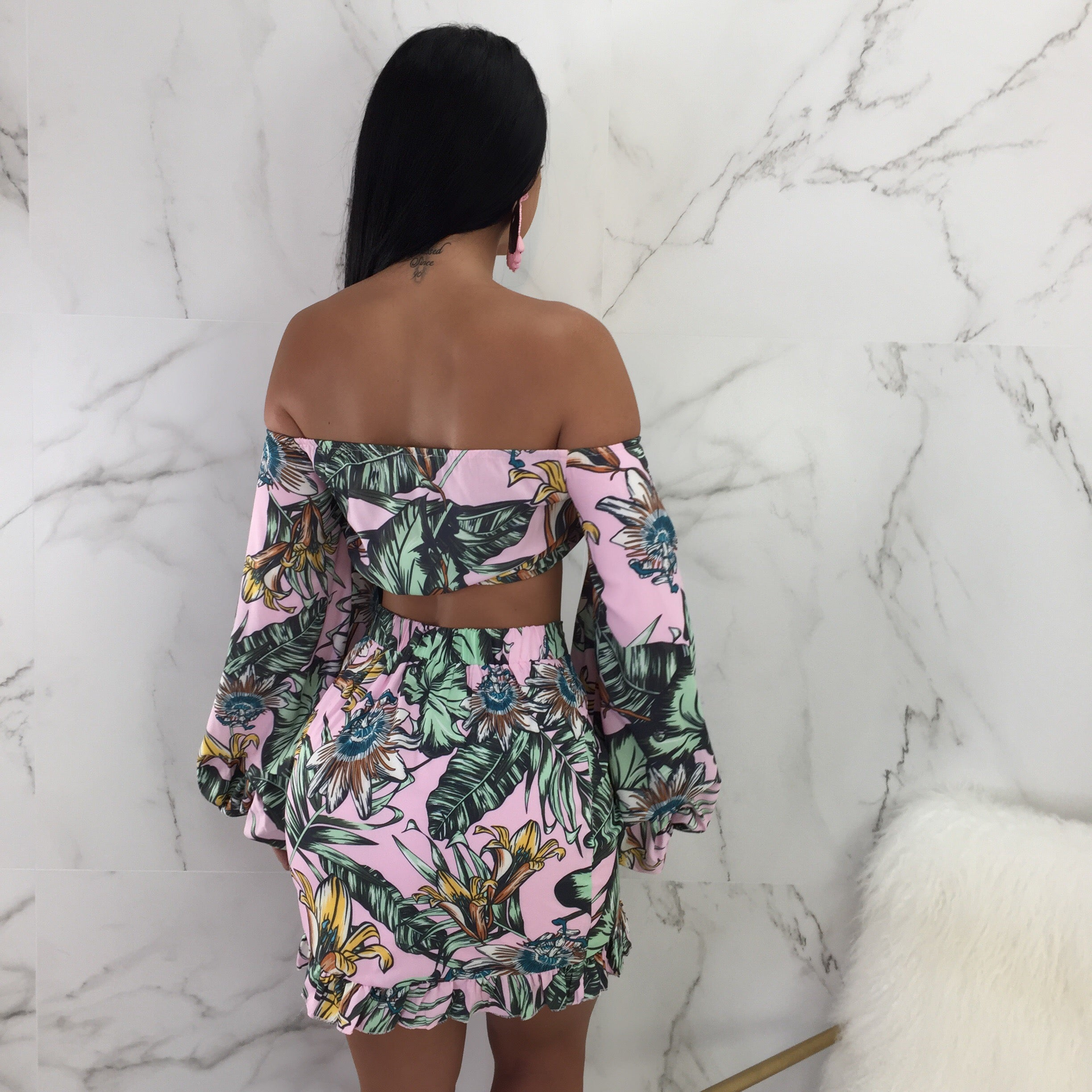 Cala Off The Shoulder Skirt Set