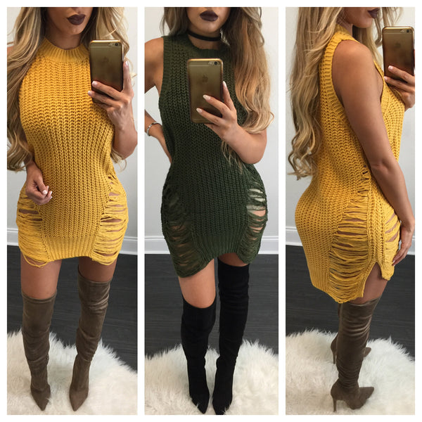 Denise Sleeveless Knit Sweater / Dress - Diva Boutique Online - 1
