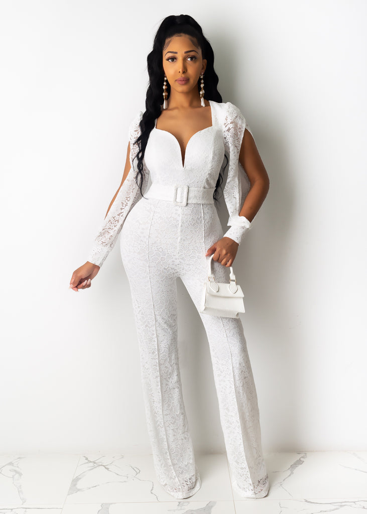 Ready For The Occasion Lace Jumpsuit