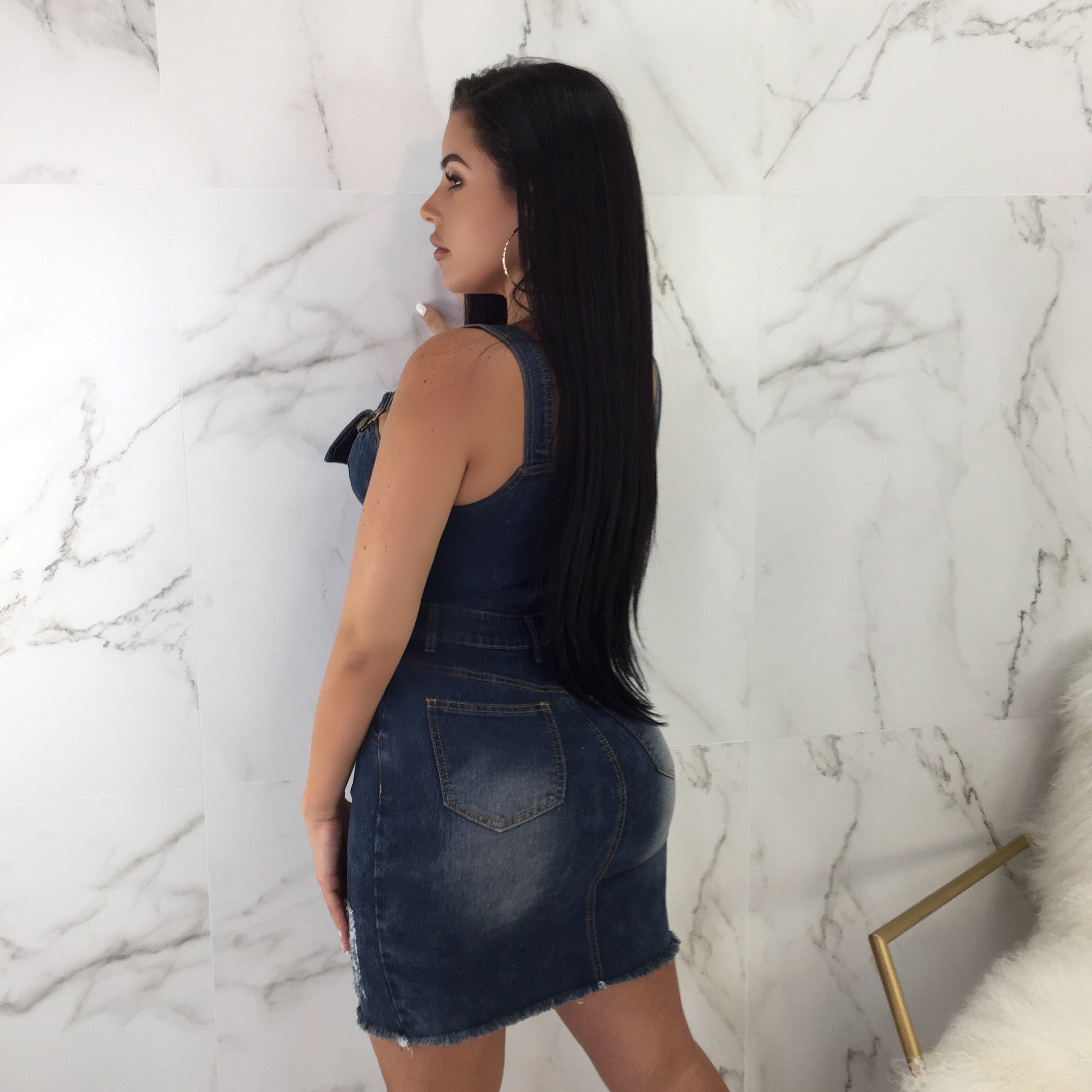 Barbara Dark Denim Mini