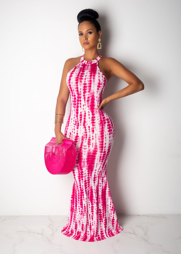 Your Favorite Summer Tie Dye Print Maxi Dress