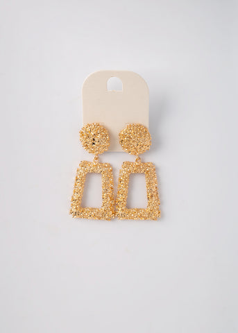 My Gold Brick Earrings